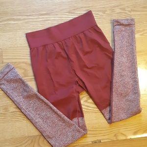 Red two toned Gymshark leggings